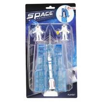 ruimte raket en astronauten 15 cm zilver