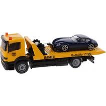 Mercedes-Benz transporter met sportwagen geel (2712038)