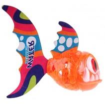 vis met verlichting oranje 15 cm