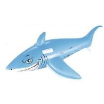 opblaasdier haai 183 cm grijs