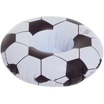 opblaasbare bekerhouder Voetbal 20 cm zwart/wit