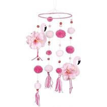 hangdecoratie flamingo's 60 cm