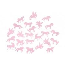 plafondstickers glow in the dark roze eenhoorn 24-delig