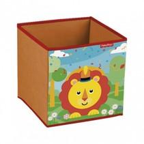 opbergbox leeuw 31 x 31 x 31 cm rood