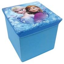 Frozen Opbergmand/Kruk meisjes blauw 30 x 30 x 30 cm