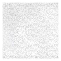 splash mat origami wit/grijs 120 cm