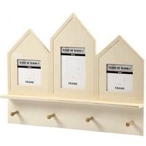 houten kapstok 50 x 40 x 6 cm triplex blank per stuk