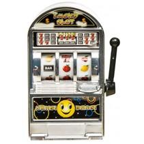 Casino gokautomaat 8 cm zilver
