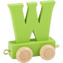 treinletter W groen 6,5 cm