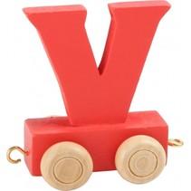 treinletter V rood 6,5 cm