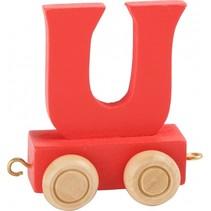 treinletter U rood 6,5 cm