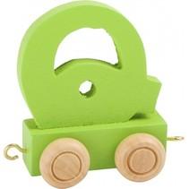 treinletter Q groen 6,5 cm