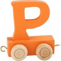 treinletter P oranje 6,5 cm