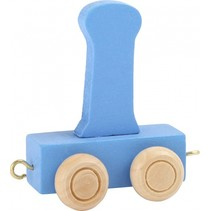 treinletter I blauw 6,5 cm
