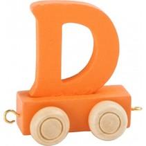 treinletter D oranje 6,5 cm