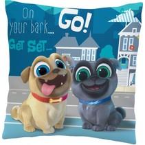 kussen Puppy Dog Pals 35 x 35 cm blauw