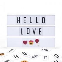 letterbord micro USB led A4 30 cm wit