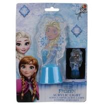 acryllampje Fozen Elsa 13 cm blauw