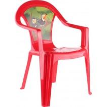 kinderstoel Jungle 51 cm rood