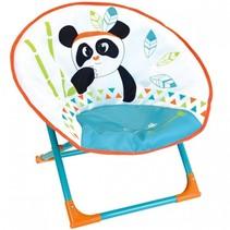 kinderstoel Moonchair Panda 52 x 48 x 46 cm oranje/blauw