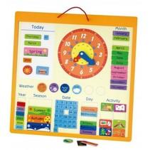 magnetische kalender engels 45 cm multicolor