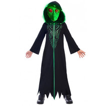 kostuum Alien polyester zwart/groen 2-delig