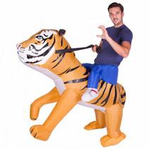 volwassenenkostuum opblaasbare tijger one size