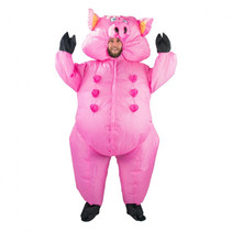 Inflatable Pig Costume roze one size