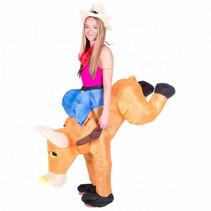 volwassenenkostuum opblaasbaar rodeo stier one size
