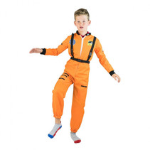 kinderkostuum unisex astronaut oranje mt 104-110