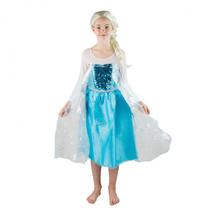 kinderkostuum Elsa Frozen meisjes blauw/wit mt 134-140