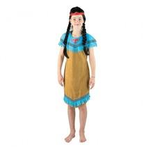 indianenjurk bruin/blauw meisjes 7-10 jaar