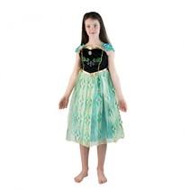 verkleedkostuum Frozen Anna groen meisjes 5-7 jaar