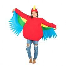 verkleedkostuum papegaai rood