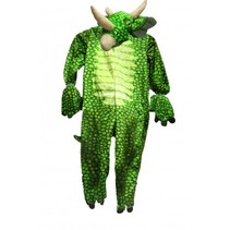 kinderkostuum onesie Brontosaurus groen