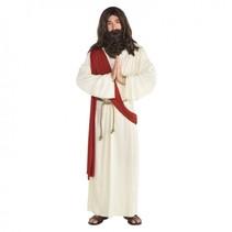 verkleedkostuum jezus heren wit/rood mt XXL