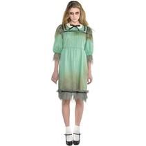 kostuum Akelige Annie mintgroen dames