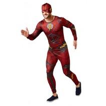 kostuum Justice League Flash heren rood one size