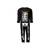 verkleedkostuum skelet junior zwart 1-2 jaar