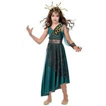kostuum Medusa meisjes groen 6-8 jaar 2-delig