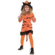 verkleedkostuum tijger meisjes oranje