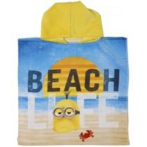 badponcho Beach Life geel junior 50 x 100 cm