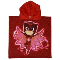 badponcho Super Owl Wings rood junior 50 x 100 cm