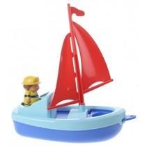 boot met figuur blauw 22 cm