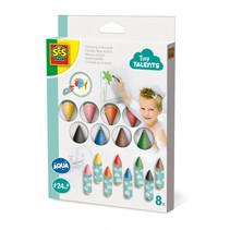 Kleuren in bad 8 pack multicolor