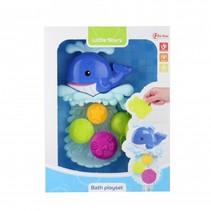 badspeelset met zuignap blauw