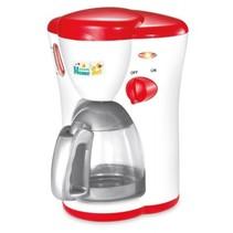 koffiezetapparaat met licht en geluid 18 cm rood