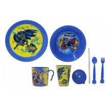 serviesset Batman jongens blauw/geel 8-delig