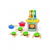 kinderkeuken met accessoires en servies multicolor