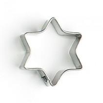 uitsteekvorm ster 3 x 3 x 1 cm blank staal